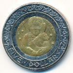 Индейская резервация Санта-Изабел, 5 долларов (2012 г.)