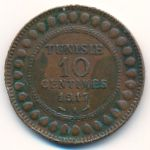 Тунис, 10 сентим (1917 г.)