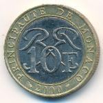 Монако, 10 франков (2000 г.)