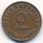 Третий Рейх, 2 рейхспфеннига (1938 г.)