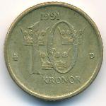 Швеция, 10 крон (1991 г.)