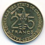 Западная Африка, 25 франков (2009 г.)
