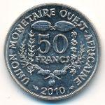 Западная Африка, 50 франков (2010 г.)