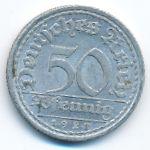 Веймарская республика, 50 пфеннигов (1921 г.)