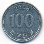 Южная Корея, 100 вон (2008 г.)