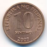 Филиппины, 10 сентимо (2008–2017 г.)