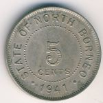North Borneo, 5 cents, 1903–1941