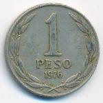 Чили, 1 песо (1976–1977 г.)