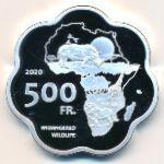 Абьей, 500 франков (2020 г.)