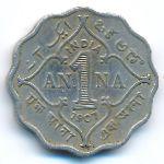Британская Индия, 1 анна (1907 г.)
