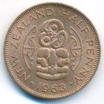 Новая Зеландия, 1/2 пенни (1963 г.)