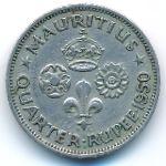 Маврикий, 1/4 рупии (1950 г.)