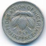 Нигерия, 6 пенсов (1959 г.)
