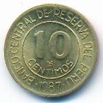 Перу, 10 сентимо (1987 г.)