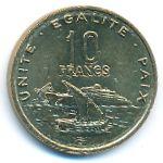 Джибути, 10 франков (2016 г.)