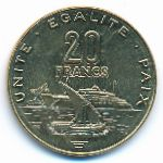 Джибути, 20 франков (2016 г.)