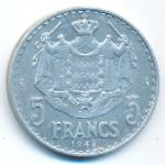 Монако, 5 франков (1945 г.)