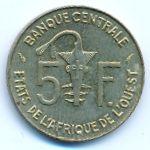 Западная Африка, 5 франков (1989–1992 г.)