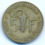 Западная Африка, 5 франков (1992 г.)