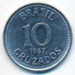 Бразилия, 10 крузадо (1987 г.)