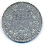 Чили, 1 песо (1910 г.)