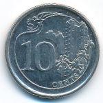 Сингапур, 10 центов (2014 г.)
