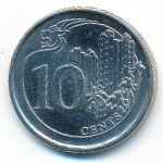 Сингапур, 10 центов (2016 г.)