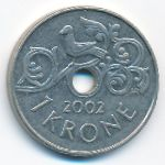 Норвегия, 1 крона (2002 г.)