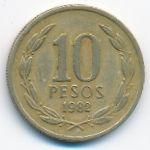 Чили, 10 песо (1982 г.)