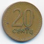 Литва, 20 центов (1991 г.)