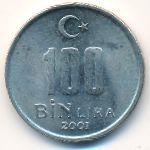 Турция, 100000 лир (2001 г.)