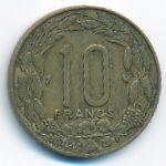 Экваториальные Африканские Штаты, 10 франков (1967 г.)