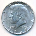 США, 1/2 доллара (1969 г.)