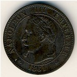France, 2 centimes, 1861