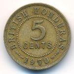 Британский Гондурас, 5 центов (1970 г.)