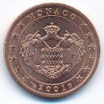 Монако, 2 евроцента (2001 г.)