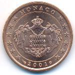 Монако, 5 евроцентов (2001 г.)