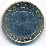 Монако, 1 евро (2001 г.)