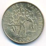 Ватикан, 200 лир (1989 г.)