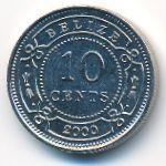 Белиз, 10 центов (2000 г.)