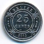 Белиз, 25 центов (2015 г.)