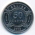 Белиз, 50 центов (2013 г.)