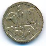 ЮАР, 10 центов (2003 г.)