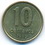 Аргентина, 10 сентаво (1993 г.)