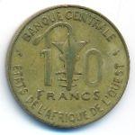 Западная Африка, 10 франков (1978 г.)