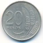 Уругвай, 20 песо (1970 г.)