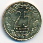 Центральная Африка, 25 франков (2003 г.)