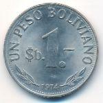 Боливия, 1 песо боливиано (1974 г.)