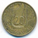 Мадагаскар, 20 франков (1953 г.)