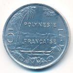 Французская Полинезия, 5 франков (1986 г.)